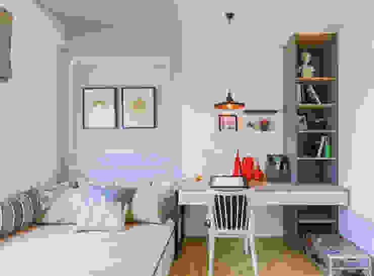 Căn Hộ 65m2 Nhỏ Đẹp Nhờ Thiết Kế Nội Thất Thông Minh Phòng ngủ phong cách hiện đại bởi Công ty TNHH Xây Dựng TM – DV Song Phát Hiện đại