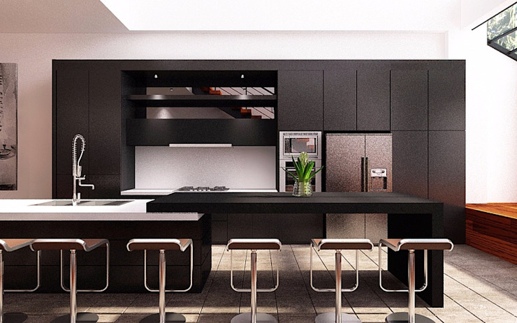 Black Diamond Dapur Modern Oleh Lighthouse Architect Indonesia Modern