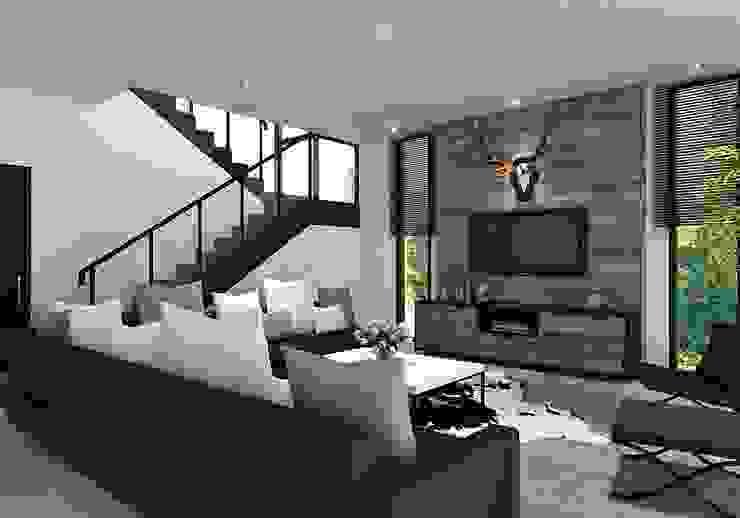 Ruang Keluarga Ruang Keluarga Modern Oleh Lighthouse Architect Indonesia Modern