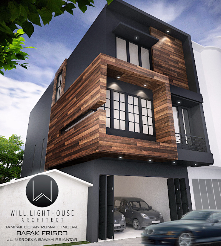 Tampak Depan Hunian Rumah Modern Oleh Lighthouse Architect Indonesia Modern