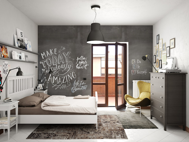 Industrial style bedroom by Studio Gentile Industrial MDF