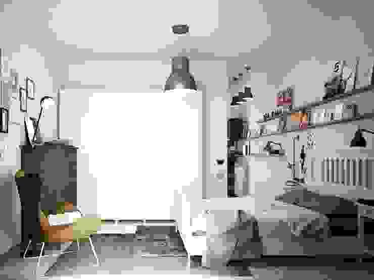 Industriële slaapkamers van Studio Gentile Industrieel MDF
