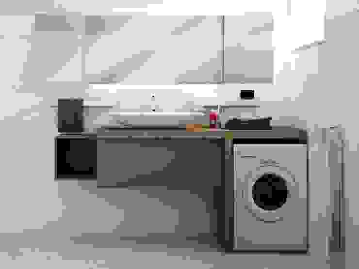 Industriële badkamers van Studio Gentile Industrieel Hout Hout