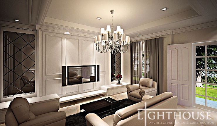 Classic style living room by Lighthouse Architect Indonesia Classic
