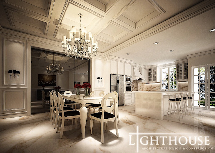 Classic style dining room by Lighthouse Architect Indonesia Classic