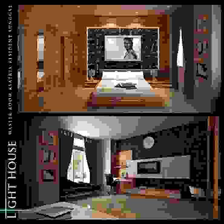 J.H. House, Ksatria Residence. Medan City Kamar Tidur Minimalis Oleh Lighthouse Architect Indonesia Minimalis