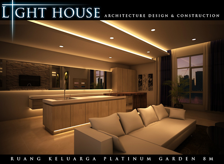 ONG, Platinum Garden. Medan City Ruang Keluarga Minimalis Oleh Lighthouse Architect Indonesia Minimalis