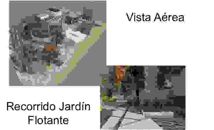 JARDINE FLOTANTE Y EXTERIORES Jardines de estilo ecléctico de ESTUDIO KULUMAK Ecléctico Azulejos