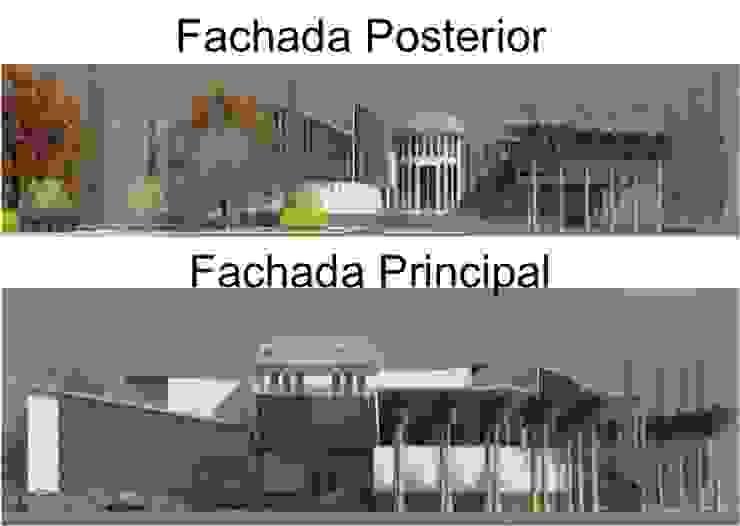 FACHADA PRINCIPAL Y POSTERIOR Casas de estilo ecléctico de ESTUDIO KULUMAK Ecléctico Vidrio