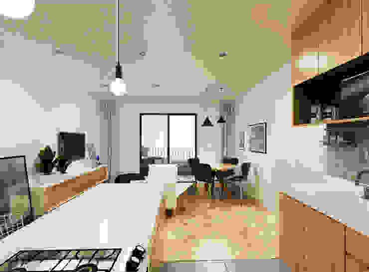 Imagem da cozinha por A Pino Arquitetos Minimalista Granito