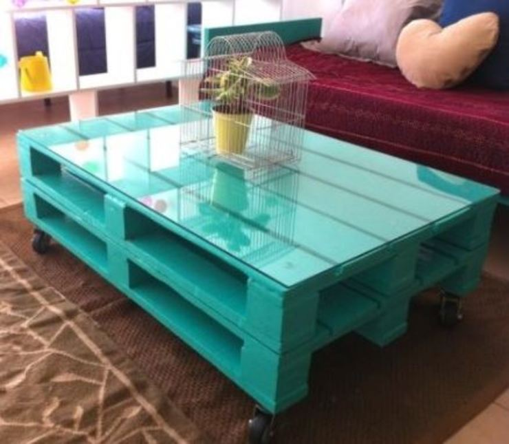 Living room by Pequeños Proyectos, Rustic Wood Wood effect