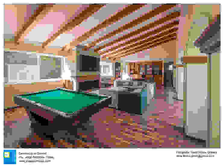 sala de juegos Salas multimedia coloniales de Excelencia en Diseño Colonial Concreto