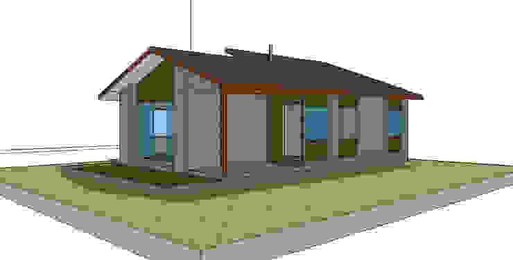Casas unifamiliares de estilo  por casa rural - Arquitectos en Coyhaique,