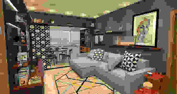 Salas de entretenimiento de estilo moderno de Sotto Mayor Arquitetura e Urbanismo Moderno