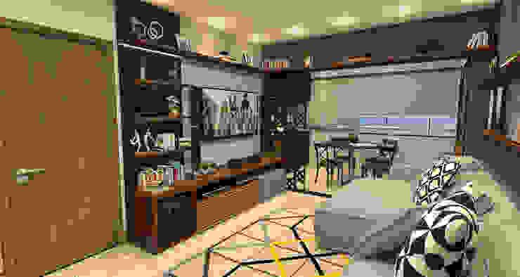 INTERIORES - APARTAMENTO Salas multimídia modernas por Sotto Mayor Arquitetura e Urbanismo Moderno