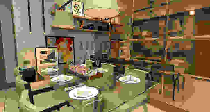 Comedores de estilo moderno de Sotto Mayor Arquitetura e Urbanismo Moderno
