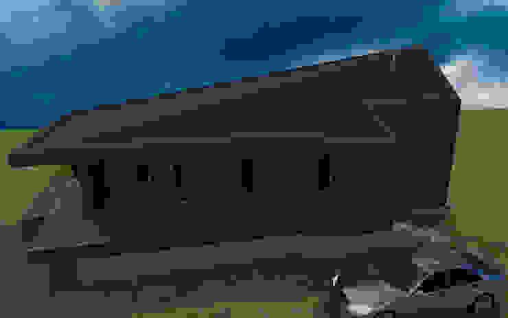 Fachada de casa rural - Arquitectos en Coyhaique Moderno