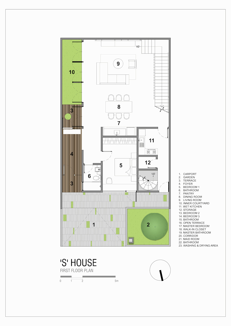 First Floor Plan Oleh Simple Projects Architecture Tropis