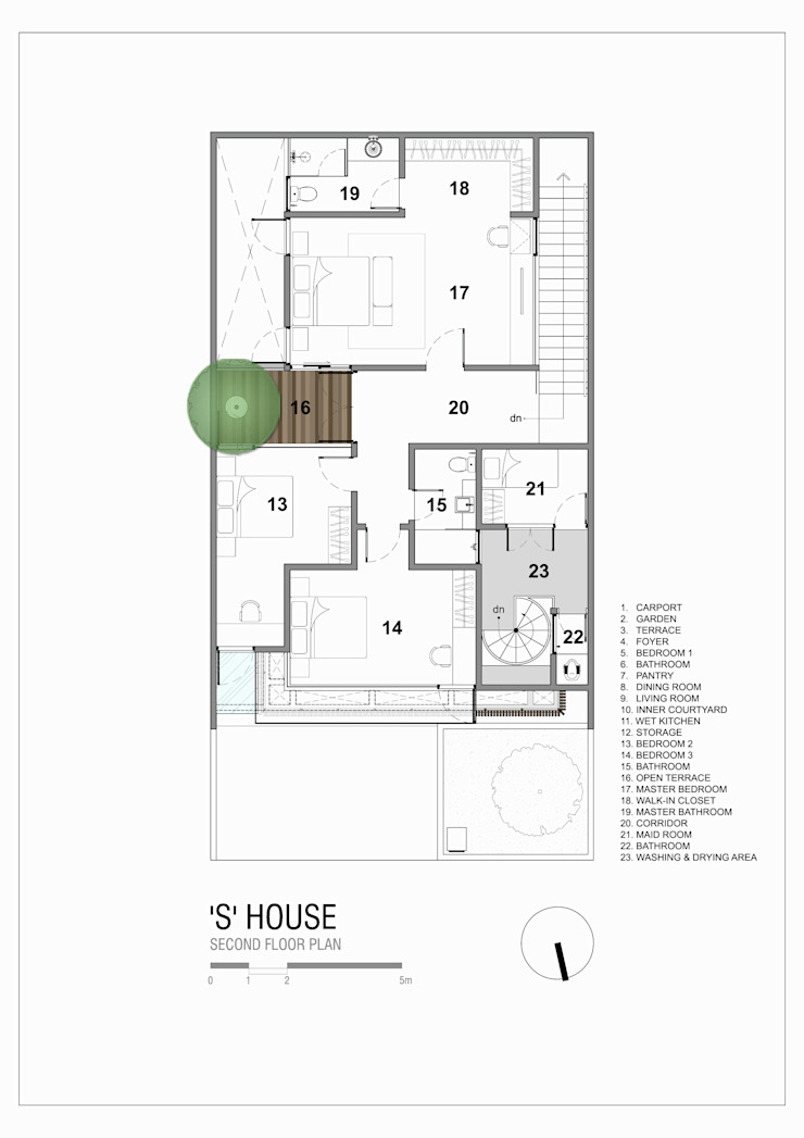 Second Floor Plan Oleh Simple Projects Architecture Tropis