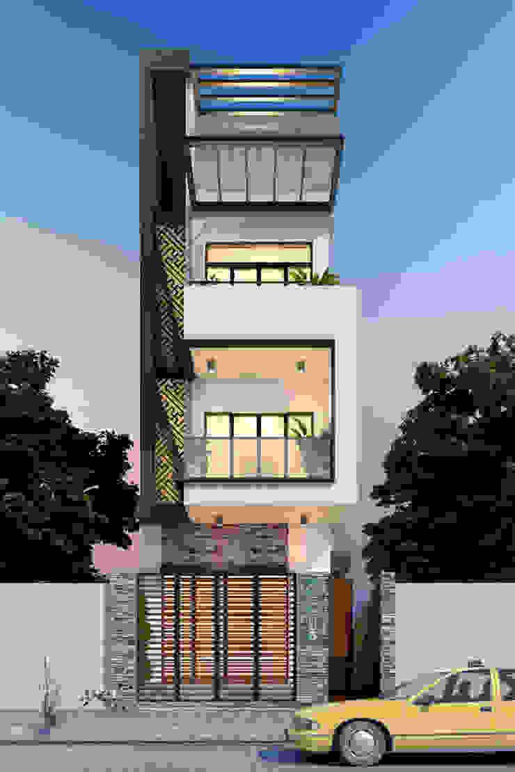Nhà phố 3 tầng: hiện đại  by Công ty cổ phần Architect Việt, Hiện đại