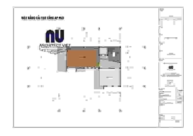Biệt thự 3 tầng 1 tum 110m2: hiện đại  by Công ty cổ phần Architect Việt, Hiện đại