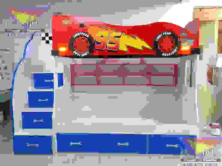 Fantástica litera de Cars de Kids Wolrd- Recamaras Literas y Muebles para niños Moderno Derivados de madera Transparente
