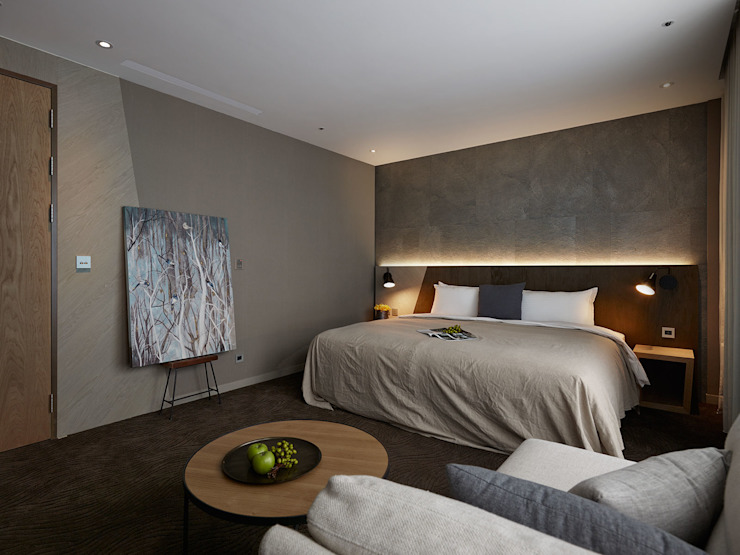 森之旅店_靜石 根據 沐光植境設計事業 日式風、東方風