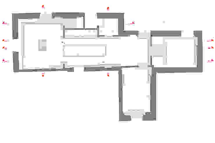 Pianta Soggiorno moderno di VITAE STUDIO - architettura Moderno