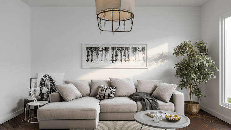 Scandinavian style living room by homify Scandinavian