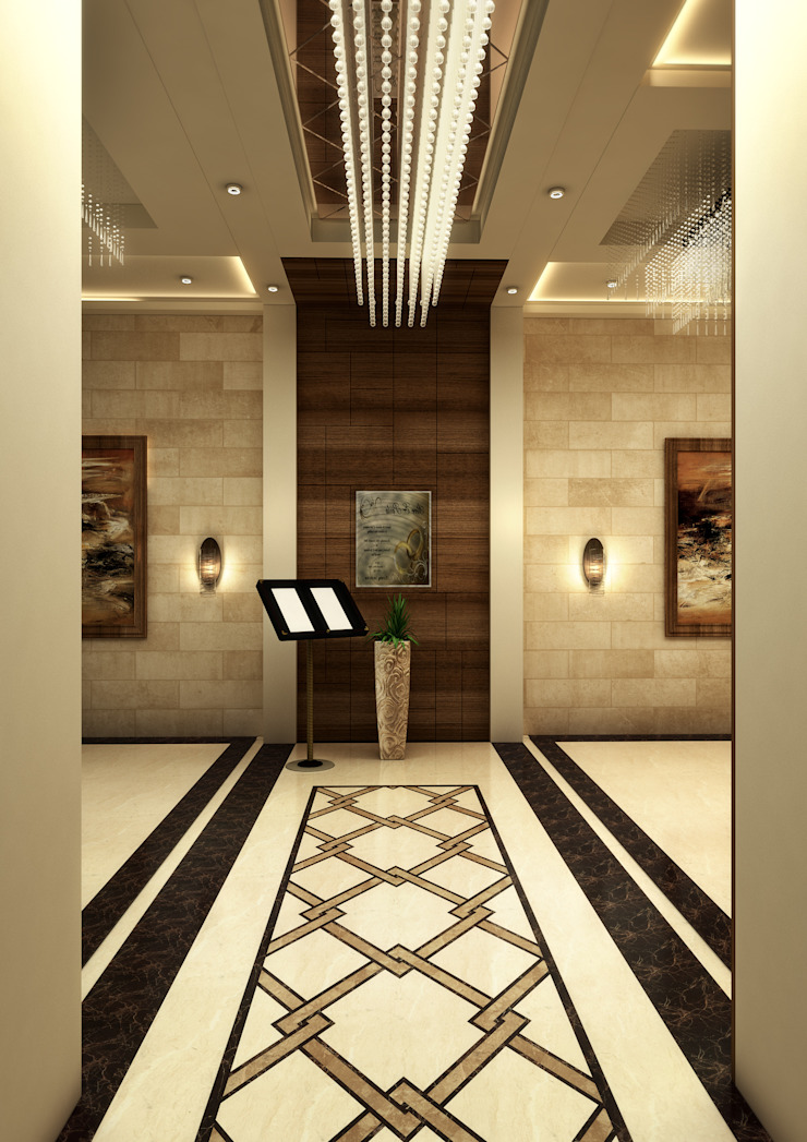 Entrance Classic style corridor, hallway and stairs by SPACES Architects Planners Engineers Classic