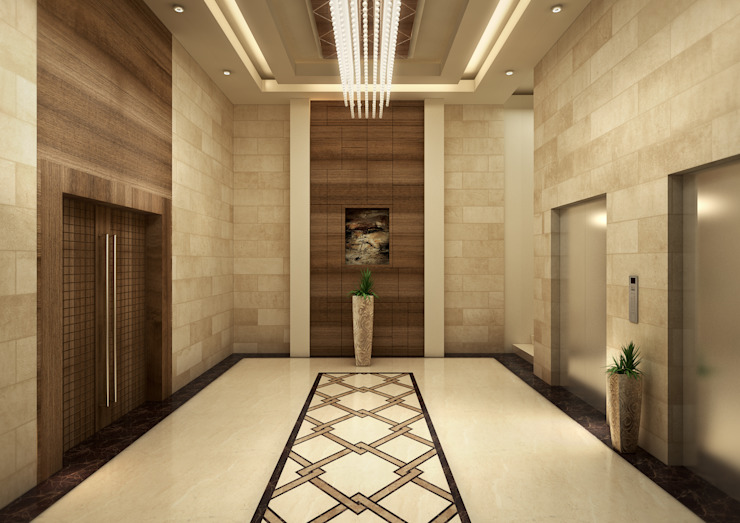 Elevators Classic style corridor, hallway and stairs by SPACES Architects Planners Engineers Classic