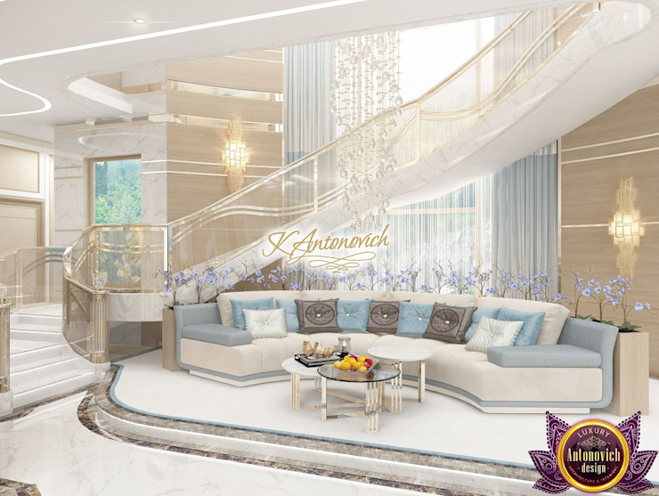 Dream interior from Katrina Antonovich Modern Corridor, Hallway and Staircase by Luxury Antonovich Design Modern