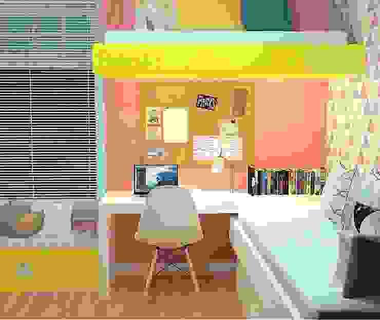Kassia Rosa Designer de Interiores Dormitorios infantiles Decoración y accesorios Tablero DM Rosa