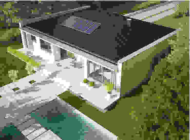 Casas Prefabricadas Marlon de FHS Casas Prefabricadas Moderno Hierro/Acero