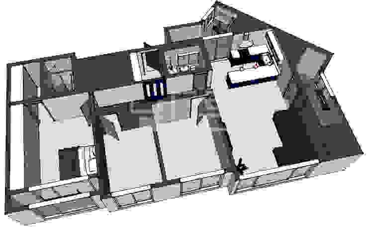 대구 북구 칠성휴먼시아 34평형: 남다른디자인의 현대 ,모던