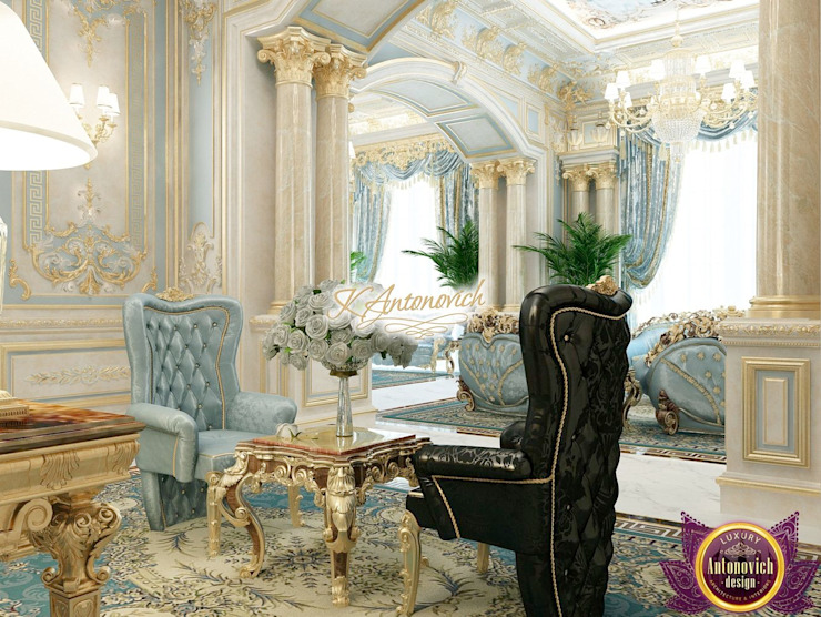 Couloir, entrée, escaliers classiques par Luxury Antonovich Design Classique