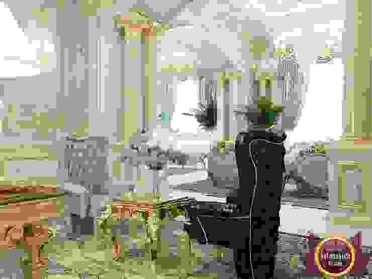 Classic home interior decoration by Katrina Antonovich Classic style corridor, hallway and stairs by Luxury Antonovich Design Classic