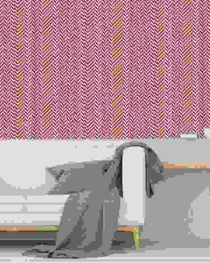 Housed - Wallpapers 牆壁與地板壁紙 天然纖維 Multicolored