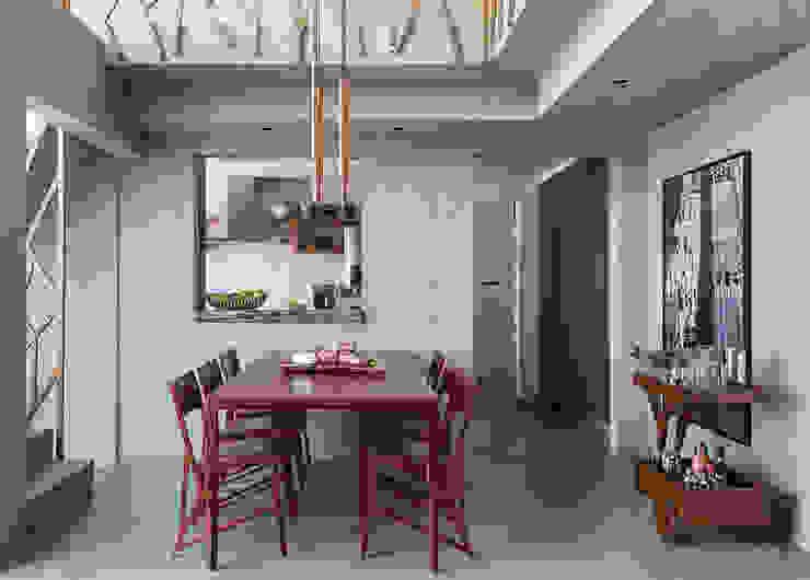 Industrial style dining room by Estúdio Paulo Alves Industrial