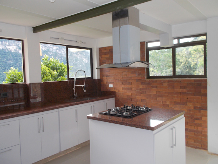 Cocinas integrales Hermosas de Omar Interior Designer Empresa de Diseño Interior, remodelacion, Cocinas integrales, Decoración Moderno Granito