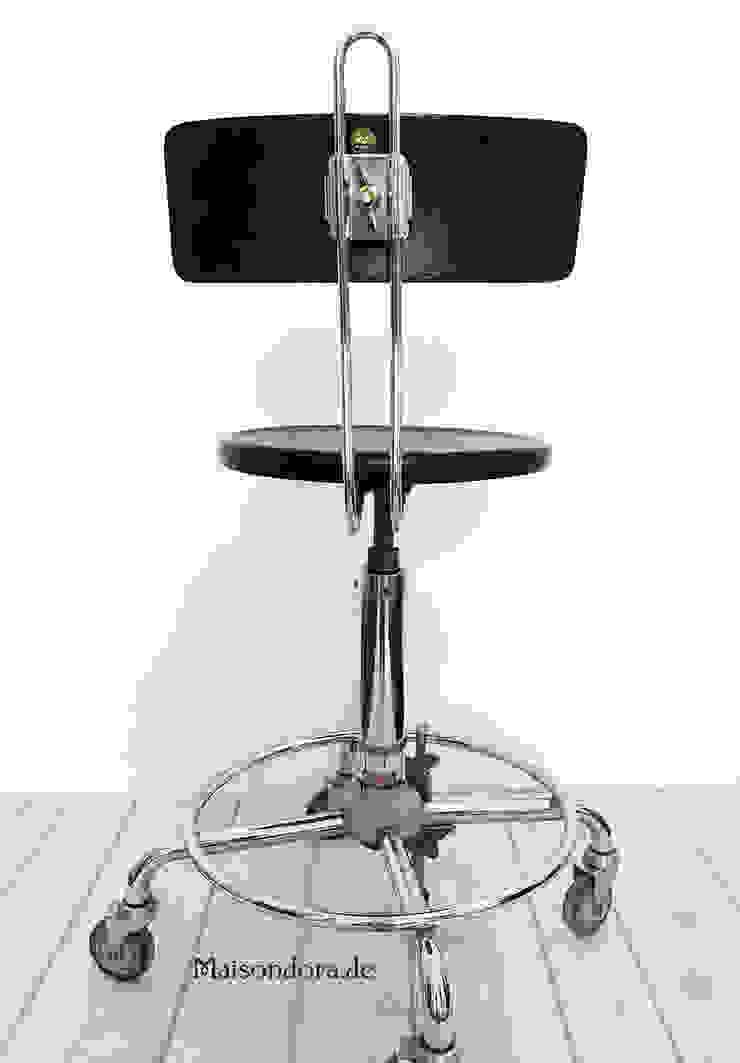 Maisondora Vintage Living BureauTabourets Métal Noir