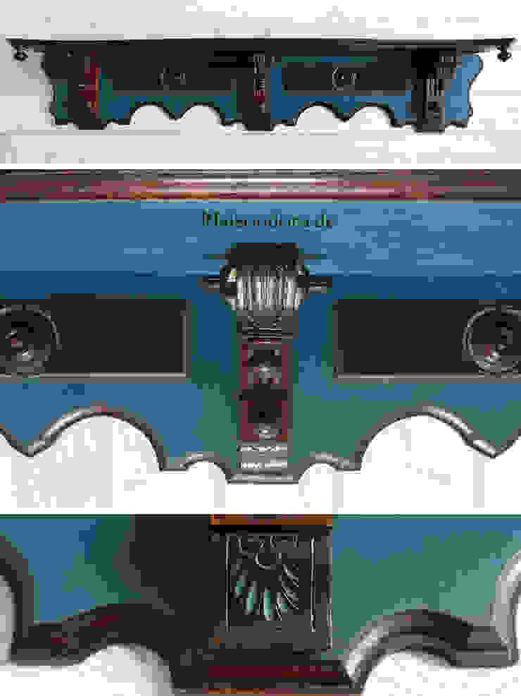 Maisondora Vintage Living Sala de estarEstantes Madeira Azul