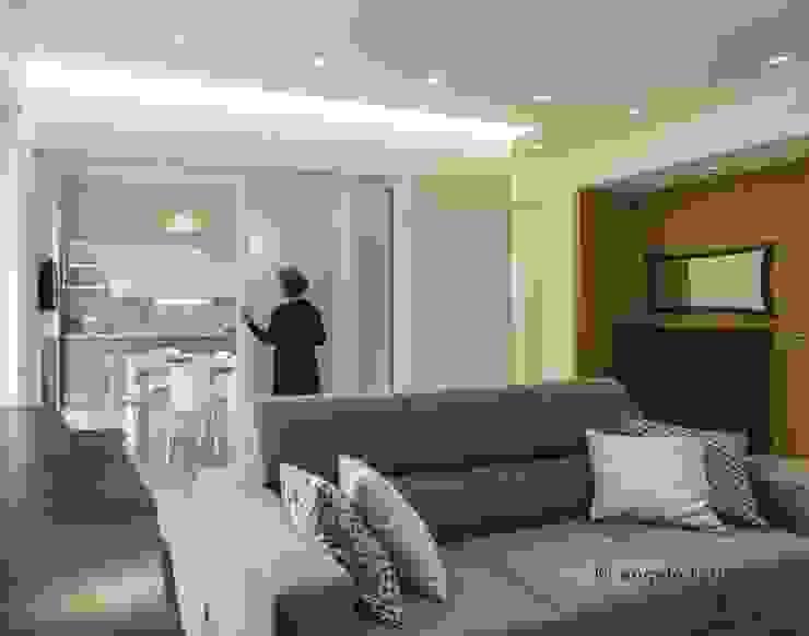 salotto living Soggiorno minimalista di Casaburi & Memoli Architetti Minimalista Piastrelle