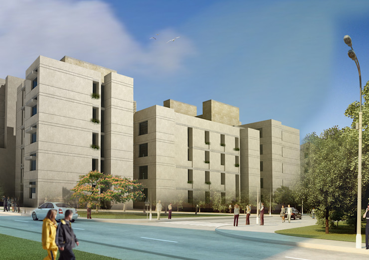 Abu Alanda Housing Competition - Amman , Jordan Modern Houses by SPACES Architects Planners Engineers Modern