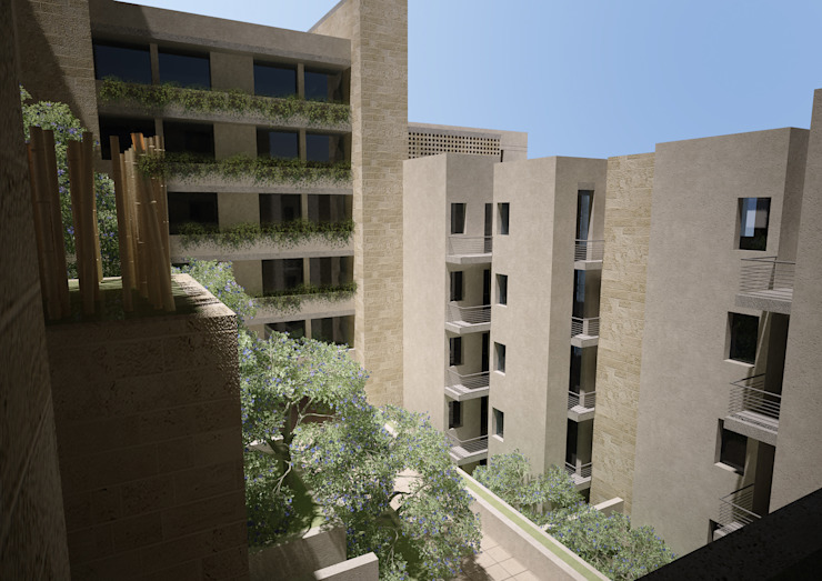 Abu Alanda Housing Competition—Amman , Jordan Modern Houses by SPACES Architects Planners Engineers Modern
