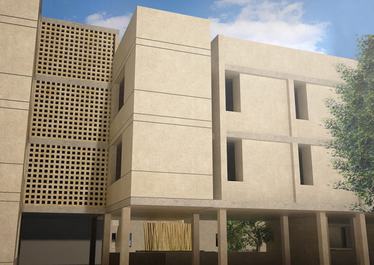 Collestra on the wastrel and eastren facades Modern Houses by SPACES Architects Planners Engineers Modern