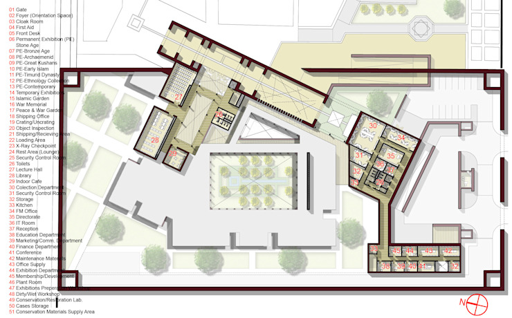 Plan by SPACES Architects Planners Engineers Modern