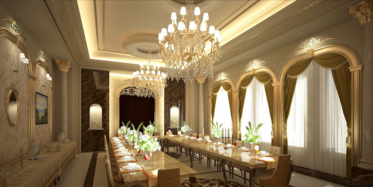 Palace Classic style dining room by SPACES Architects Planners Engineers Classic