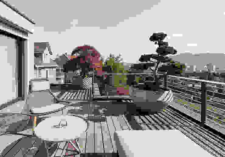 Modern style balcony, porch & terrace by meier architekten zürich Modern
