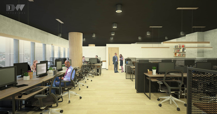 Office Area by DW Interiors Industrial Concrete